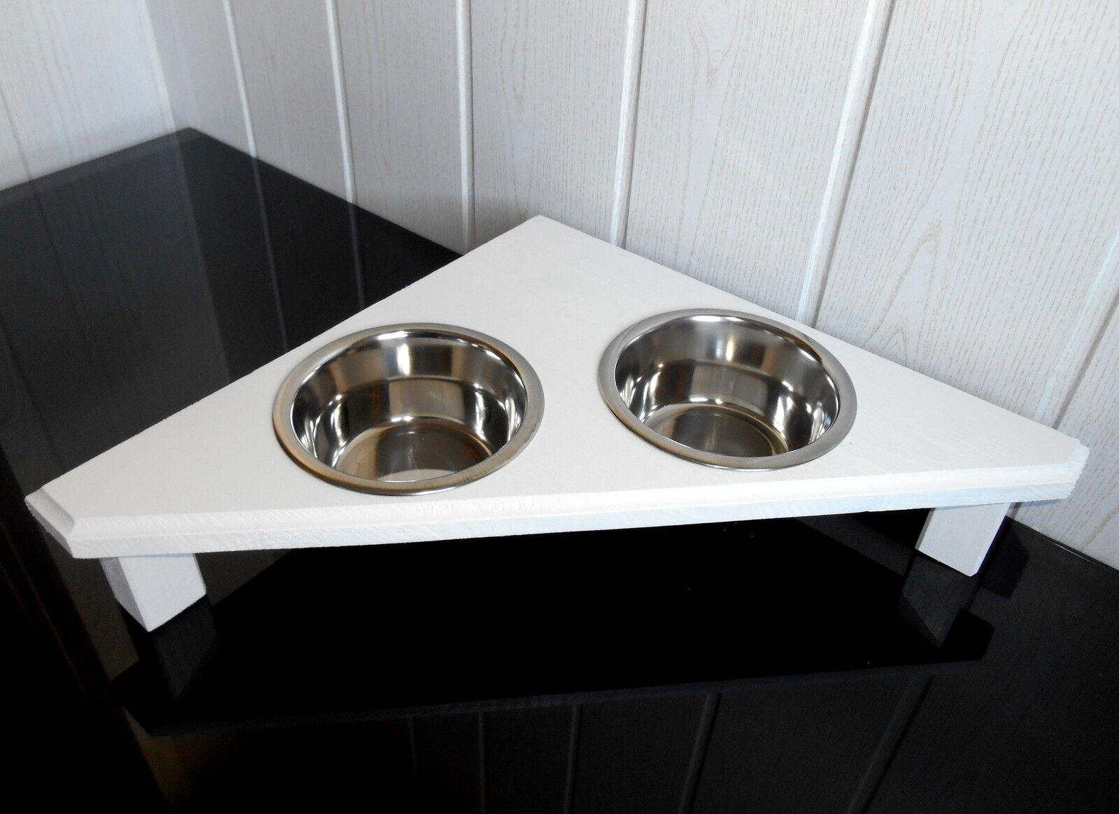 Handarbeit für Ihre Katze, Futterbar, Napf, Näpfe, in weiß (378)   Bekannt für seine schöne Qualität
