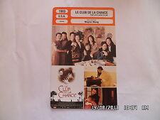CARTE FICHE CINEMA 1993 LE CLUB DE LA CHANCE Kieu Chinh Tsai Chin France Nuyen