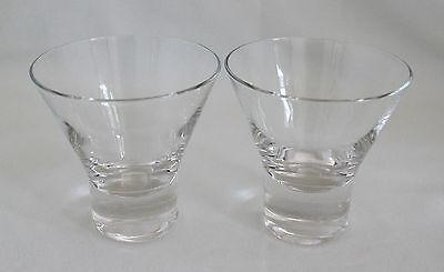 "Set of 2 IITTALA FINLAND AARNE Cocktail Glasses 3.25"" Goran Hongell MID-CENTURY"