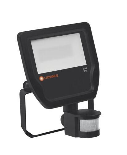 LED scheinferfer LEDVANCE Flood sensore 20w 3000k 2200lm ip65 NERO Floodlight