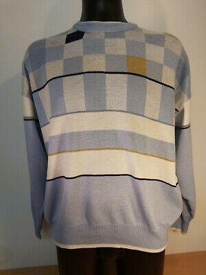 Vintage Mens PIERRE SANGAN Jumper Blue Size Large 50% Pure New Wool Classic   eBay