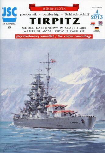 German WWII Battleship TIRPITZ # Paper Card Model in Scale 1//400 # JSC15