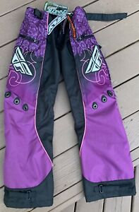 Fly Racing Kinetic Women's Pants Size 24 368-63002 Purple And Pink Over Boot
