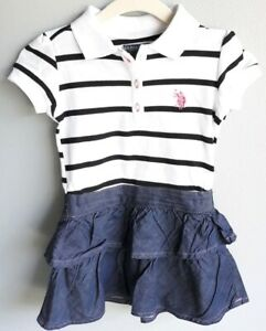 Childrens Apparel U.S Baby Girls Long Sleeve Skirted US Polo Assn