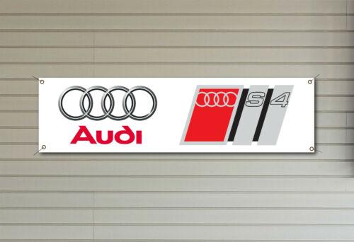 AUDI S4 LOGO BADGE Banner PVC logo banner for your workshop garage or man cave