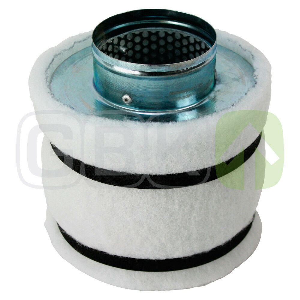 160m³ h Filtro Odore Filtro Carbone Attivo Filtro AKF Grow Filtro dell'aria 100mm