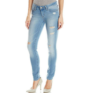 eb41ff6bd1b NEW Levi s 711 Skinny Ripped Low Rise Stretch Blue Jeans Women s 12 ...