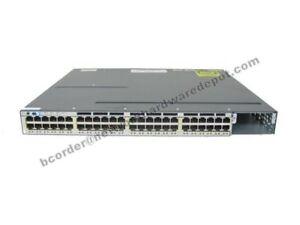 Cisco-WS-C3750X-48PF-S-48-Port-Gigabit-POE-Switch-3750X-48P-1-Year-Warranty