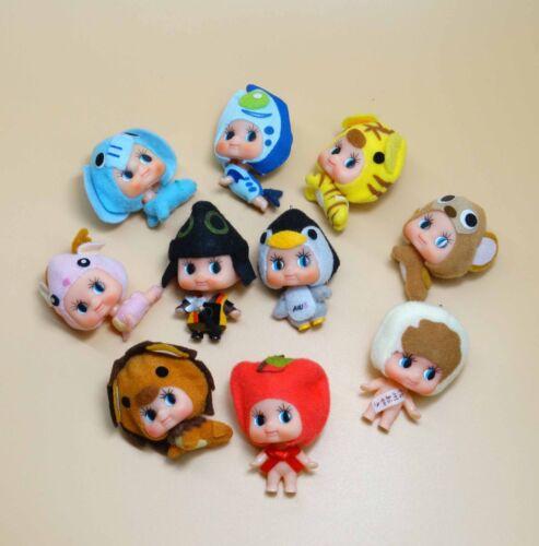 lot of 10 Kewpie Dolls Mini Collected baby Barbie big head figures 2 old #d3