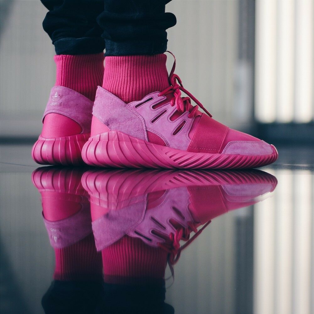adidas Originals Tubular Doom Men's / Women's Sneakers Fashion Trainers Pink