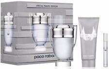 Paco Rabanne Invictus for Men 3.4 oz EDT Spray + Mini + Shampoo Travel Gift Set