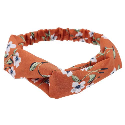 Ladies Twist Knot Pattern Headband Elastic Head Wrap Turban Hair Band Flower~