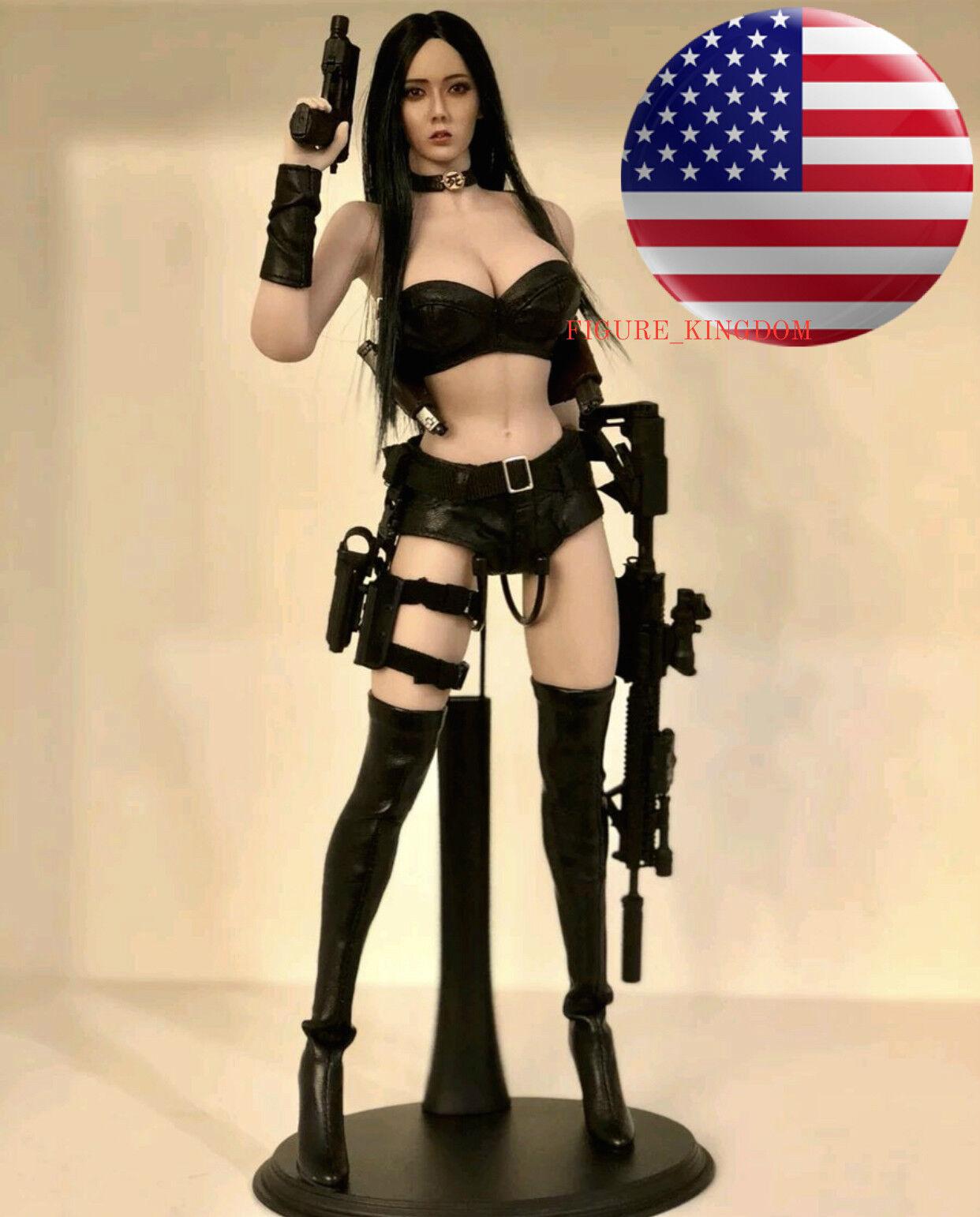 Phicen échelle 1 6 sans soudure figure  féminine cheveux noir ASIATIQUE poupée Set USA  envoi gratuit dans le monde entier