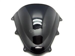 Black-Double-Bubble-Windscreen-Windshield-For-Suzuki-GSXR600-750-2011-2016-K11