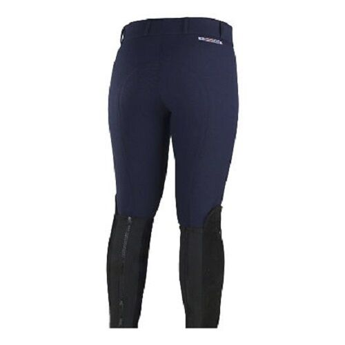 Ladies Horze Gre Prix blu inglese Self Patch Slimming Competition Breeches
