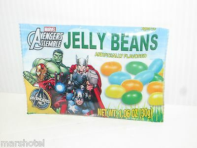 MARVEL COMICS SUPER HEROES AVENGERS ASSEBLE JELLY BEANS PACK CANDY 1.06 OZ