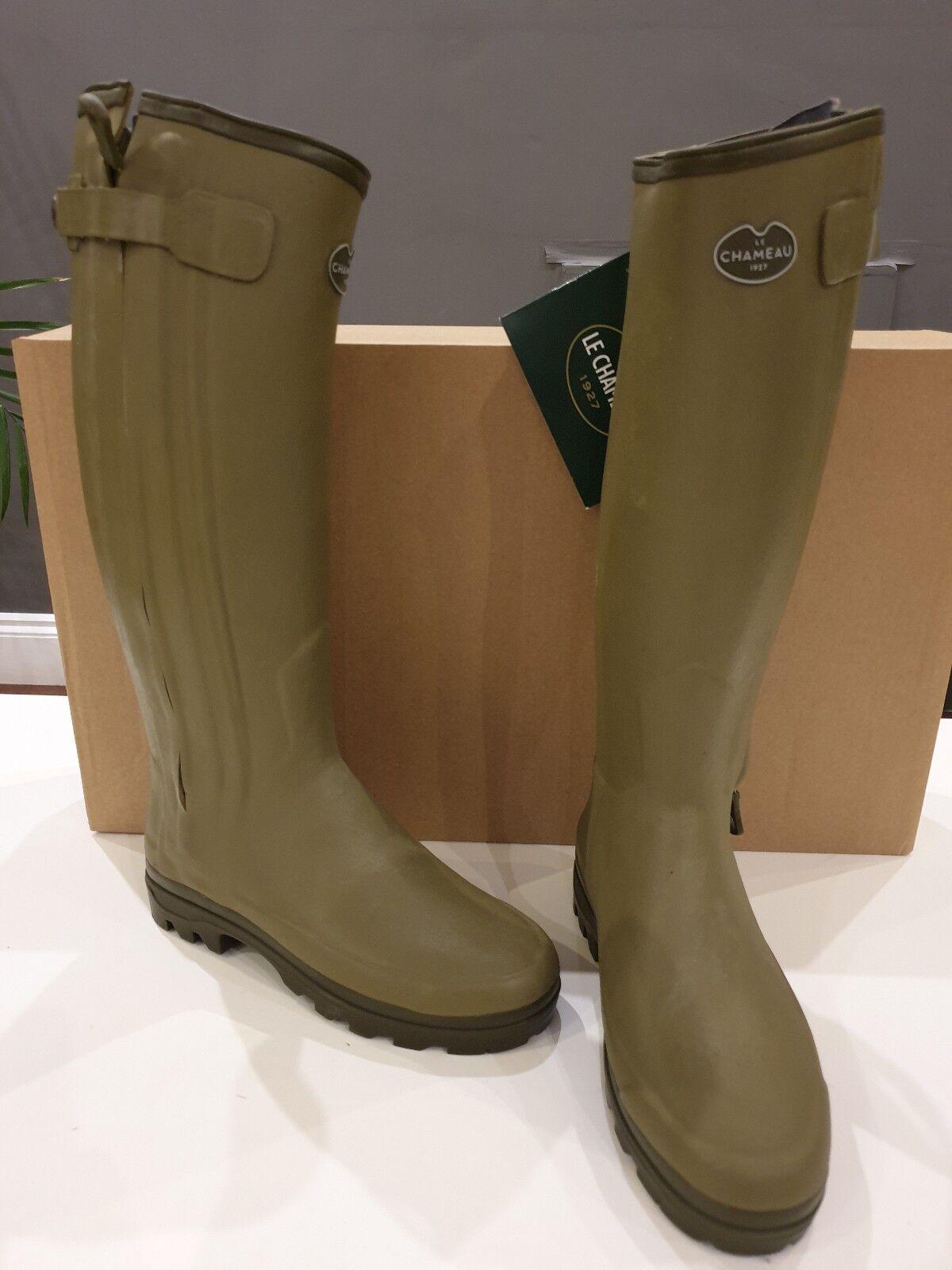 Le Chameau Chasseur Neo Neoprene Wellington Boots Size 36 green Green