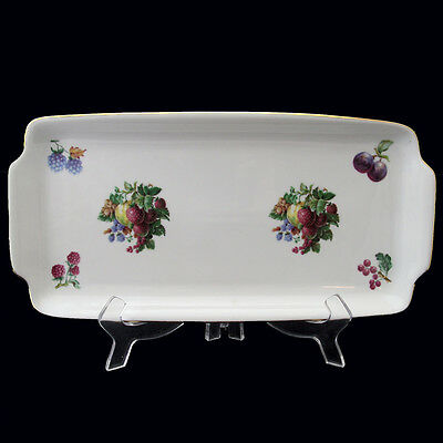 NAAMAN ISRAEL SERVING RELISH COOKIE CAKE TRAY FRUIT MOTIF DESIGN