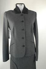 Apriori Blazer 38 grau schwarz mit Strick Jacke Sakko neu mit Etikett Viskose