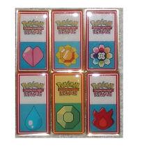Pokemon 2000 INDIGO League Badge Badges Pins Pt-Complete Set Rare!