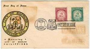 Philippine-1959-Honoring-The-City-Of-BACOLOD-FDC-B