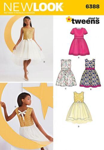 Gratis Reino Unido P/&p New Look Niñas patrón de costura 6388 noche y fiesta Dres..