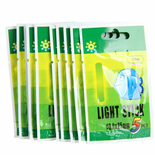 50Pcs 25mm//37mm Night Fluorescent Float Lightsticks Glow Sticks for Fishing