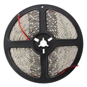 Striscia-Luce-5mt-300-LED-SMD-5630-Bianco-Impermeabile-Alta-Luminosita-DC12-T7E8