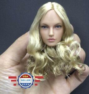 """1/6 Scale Female Head Sculpt B Pour 12"""" Corps Féminin Poupée-afficher Le Titre D'origine"""