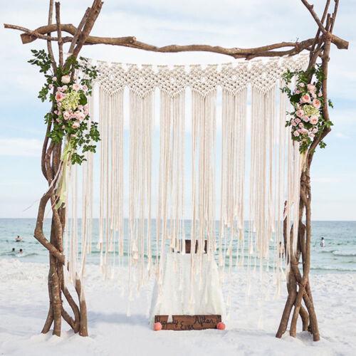 Woven Macrame Wall Hanging Boho Wedding Backdrop Door Window Curtain Home Decor