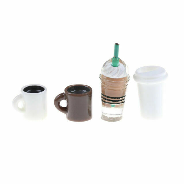 2Pcs Kitchen room food drink cup for doll diy miniature dollhouse coffee cup CA