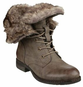 36 Size Leigh Boot Brown Stival Fur Divaz 41 Faux Lined Winter Warm Donna p1gvPwq