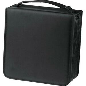 Hama-Nylon-304-CD-Wallet-with-CD-Cleaning-Cloth-Black