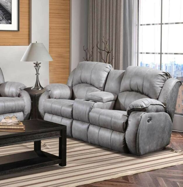 Fantastic Southern Motion Cagney Power Headrest Double Reclining Console Loveseat In Gre Download Free Architecture Designs Scobabritishbridgeorg