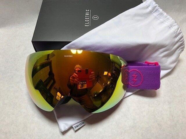 NEW Electric EG3.5 lila ROT Mirror  Herren Damenschuhe ski snowboard goggles Rt200