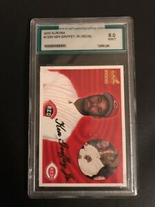 KEN-GRIFFEY-Jr-GRADED-2000-PACIFIC-AURORA-133R-CARD-GRADED-9-0-MINT-MLB-REDS