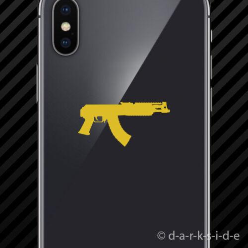 Draco Ak-47 Cell Phone Sticker Mobile ak47 assault rifle 2x