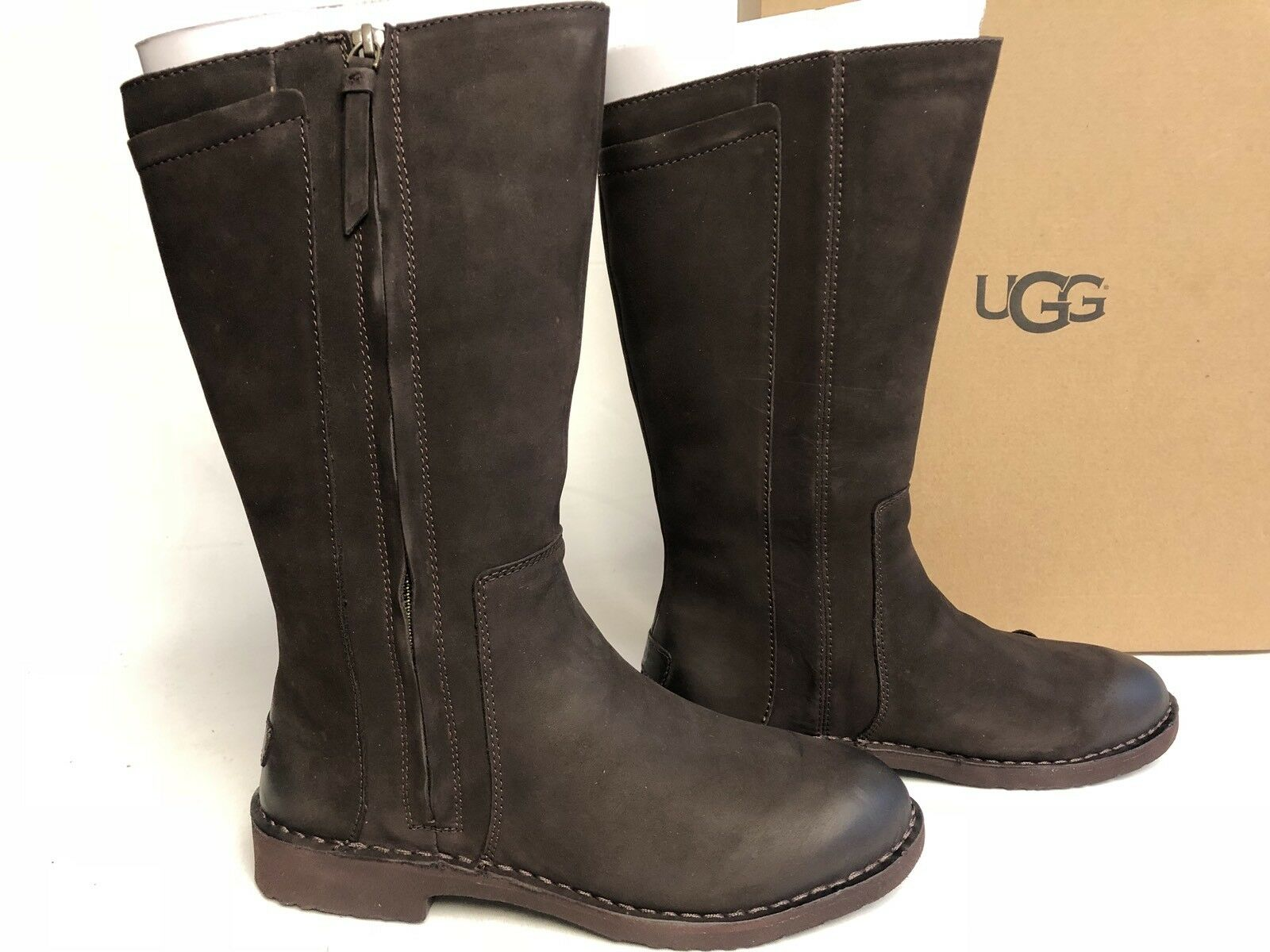d3c367836b7 Ugg Australia Elly Stout Brown Tall Nubuck Boots 1017505 Wool Lined sizes  womens
