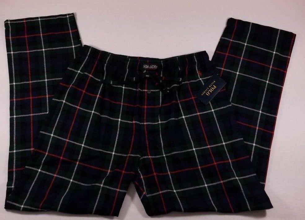 NWT Men's Polo Ralph Lauren Multi color Plaid Lounge Sleep Pants Pajamas  Large
