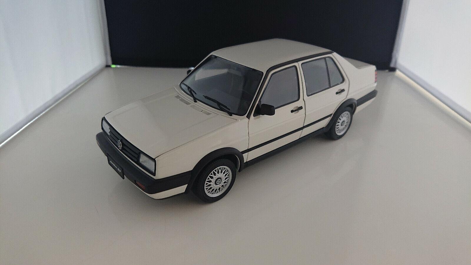 1 18 misión Model VW Jetta GT 1989 blancoo muy raramente DIECAST nuevo en el embalaje original