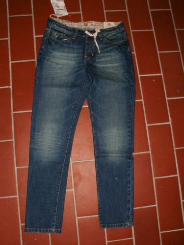 ELEMENT stylische schmale Boyfriend Jeans blau denim used W27 L31 NEU