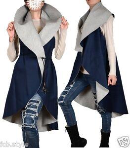 Mantel L Damen Weste M 44 Kardigan 46 36 Grau 38 Jacke Auto Blazer 42 S 40 Blau d7xFqr7aw