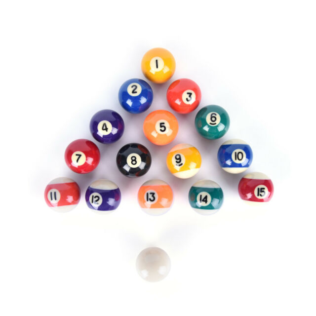 Children Billiards Table Balls Full Sets 38mm Resin Small Billiard Pool  Balls HV
