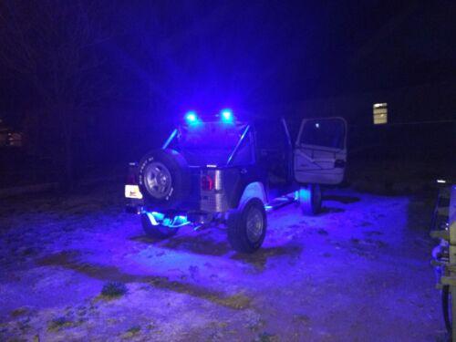 For Yamaha Blue LED PODS Light Rock ATV UTV Four Units