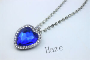 Mode-Metall-Silber-Titanic-Rose-Herz-Ozean-Anhaenger-Halskette-Grosses-Geschenk