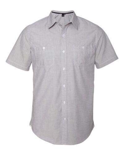 PLAID Burnside Mens S-3XL Short Sleeve Button Shirt with Pockets PEACHES PICK