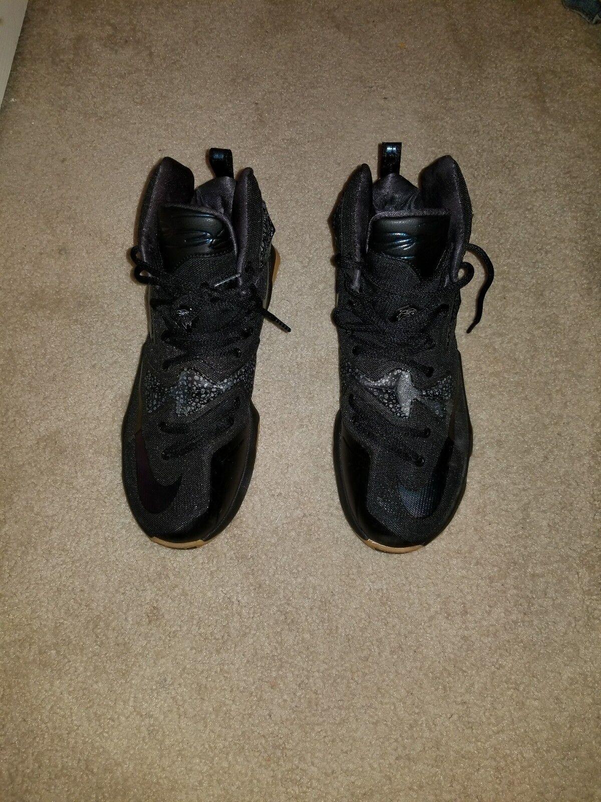 Nike Lebron XIII Black Lion Black Anthracite Gum size 9.5. Hard to find black