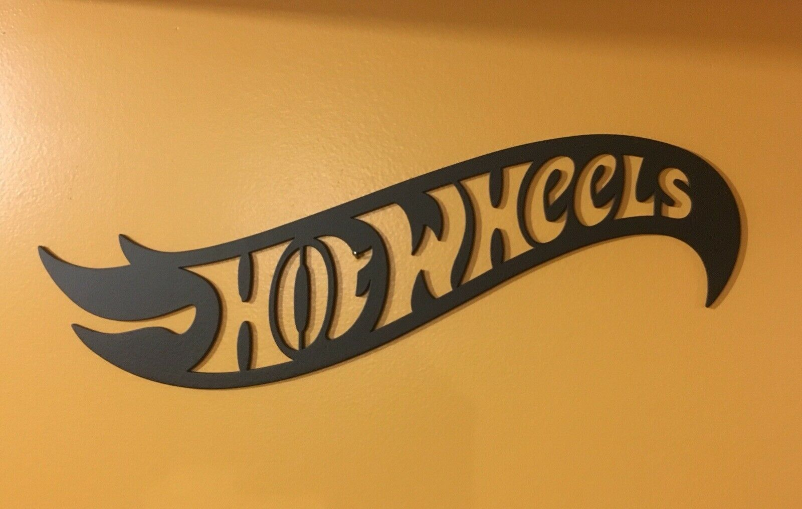 "16"" Steel Hot Wheels Logo Display Display Display Sign Decoration TH STH Treasure Hunt b70aed"