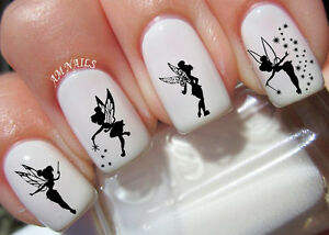 Image is loading Tinkerbell-Fairy-Nail-Art-Stickers-Transfers-Decals-Set- b09a0eb7e9d8