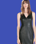 thumbnail 2 - ZARA-Dark-Olive-Green-Mid-Length-Faux-Leather-Fitted-Dress-7694-843-RRP-59-99